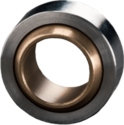 spherical bearing made from sintered bronze with graphite - maintenance-free