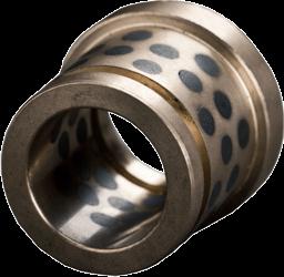 Bundbuchse mit Ringnut außen aus Bronze mit Trockenschmierstiften