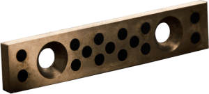Gleitplatte aus Bronze mit Trockenschmierstiften