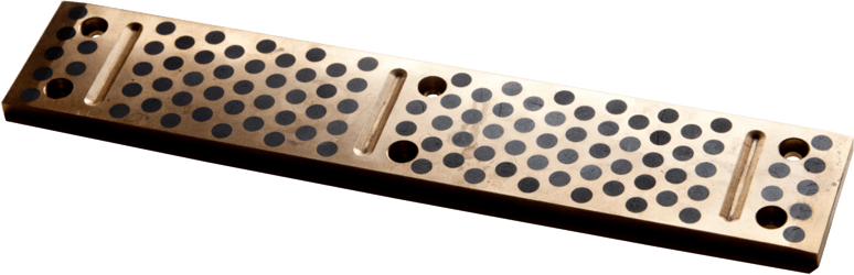 sliding liner with groove made from bronze with graphite pins