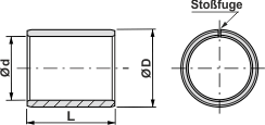 WB1R-C gerollte Buchsen - wartungsarm