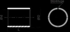 WB1H-C gerollte Buchsen - wartungsarm