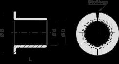 WB1H-F gerollte Bundbuchsen - wartungsarm