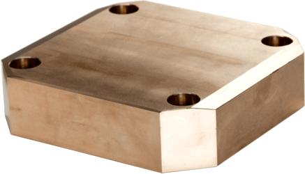 sliding plate made from sintered bronze with graphite - maintenance-free