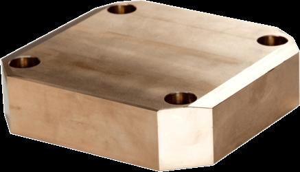 Gleitplatte aus watungsfreier Sinterbronze
