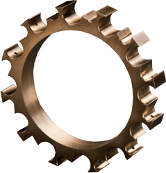 adjustment ring made from sintered bronze with graphite - maintenance-free